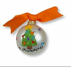 personalized hand painted christmas ornament triangle christmas