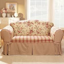 Sofa Loveseat Covers by Sure Fit Lexington Box Cushion Loveseat Slipcover U0026 Reviews Wayfair