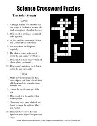 solar system fun crossword u0026 order of the planets poster solar