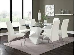 ophelia white 5 dining set 121571 121572 miami furniture