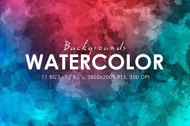 watercolor backgrounds u0026 bonus textures creative market