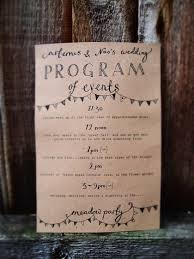 simple wedding program wording wedding stationery inspiration day of itineraries