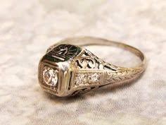 art deco engagement ring 0 69ctw old cut diamond platinum wedding