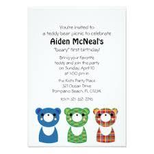 teddy bear picnic invitations u0026 announcements zazzle