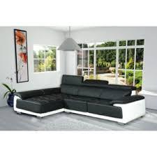 canap d angle cuir noir et blanc meublesline canapé d angle design simili cuir california noir et