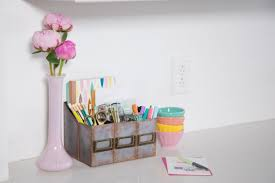 How To Make A Cardboard Desk How To Make A Faux Metal Desk Organizer Out Of Cardboard Hgtv