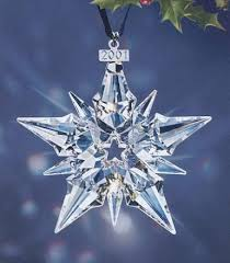 2001 retired swarovski annual ornament picture for reference only