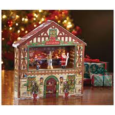 Mr Christmas Animated Advent House Calendar Music Box 420797