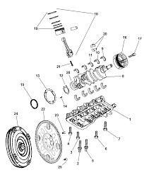 2003 Dodge 3500 Truck Parts - crankshaft pistons bearing torque converter and flywheel for