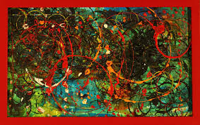 cosmos in red frame e2 80 93 maria curcic fine artist abstract