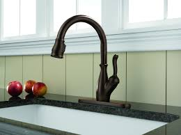 delta kitchen faucets rubbed bronze delta 9178 rb dst leland single handle pull kitchen faucet