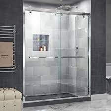 dreamline cavalier 56 60 in width frameless sliding shower door