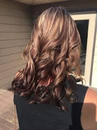 long brown hairstyles with parshall highlight dark brown hair with caramel highlights and red lowlights really