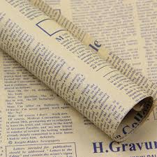 sided wrapping paper online shop high quality gift wrapping paper vintage newspaper