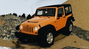 orange jeep wrangler wrangler rubicon 2012 for gta 4