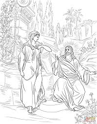jesus and the samaritan woman at the well coloring page free