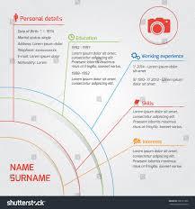 modern resume layout 2014 vector modern resume template cv circle stock vector 306791396