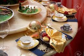 luxury restaurant table setting stock photo picture and royalty