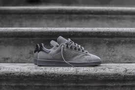 adidas originals stan smith solid grey black u2013 kith