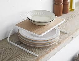 scandi cupboard plate stacking shelf small tidy kitchen