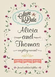 Marriage Invitation Card Save The Date Wedding Invitation Card Stock Vector Colourbox