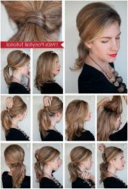 cute easy simple ponytail for short hair easy haircuts for medium