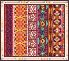 Colorful Aztec Rug Navajo Aztec Multicolour Dolls House Miniature Rug By Artistique