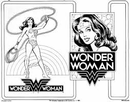 free printable coloring woman superheroes