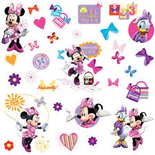 disney minnie mouse bow tique giant wall sticker disney wall