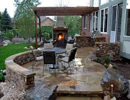 Outdoor Kitchen Covered Patio Exterior Enthralling Outdoor Covered Patio Designs With Cozy