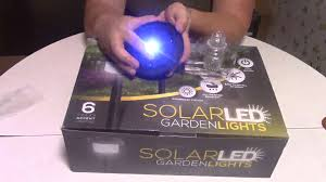 Solar Powered Fairy Lights Review by Set Of 6 Led Solar Powered Garden Lights Review Youtube
