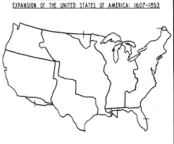 Outline Map Of The United States by Blank Map Of United States 1803