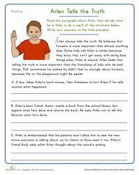 picture comprehension worksheets arlen tells the comprehension worksheets comprehension
