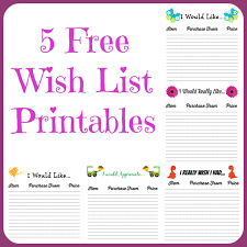 wish list free wish list printables 5 designs to from farmer s