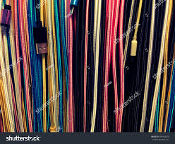 various hanging usb cable lots wires stock photo 594920870