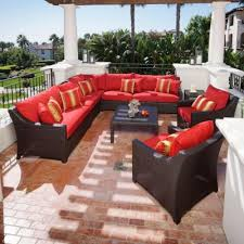 Red Patio Set by Wicker Patio Furniture As Patio Ideas With Lovely Red Patio