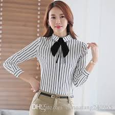 blouse with tie neck 2018 tie neck stripe blouse 2016 casual s brand