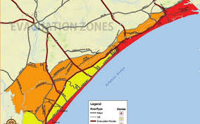 Murrells Inlet Map Horry County Hurricane Irma Evacuation Map Myrtle Beach Sun News