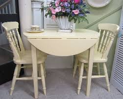 Drop Leaf Kitchen Table And Chairs Vintage Kitchen Table Two Chairs Drop Leaf Hand By Rosesnmygarden