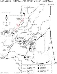 mt lemmon hiking trails map coronado national forest ash creek trail 307