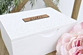 wedding wishes box personalized boho white leather wedding wishes box guestbook handma