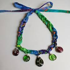 crochet jewelry necklace images Crochet necklace pattern with wire wrapped pendants jpg