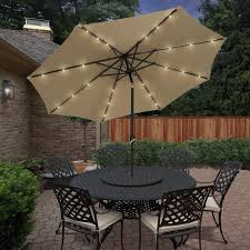 Patio Umbrella Led Lights by Best Choice Products 10 U0027 Deluxe Solar Led Lighted Patio Umbrella