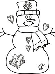 free snowman coloring pages coloring