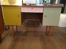 bureaux vintage bureau vintage bois repeint en couleur naa