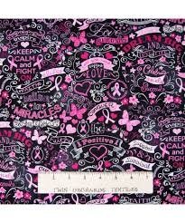 pink ribbon fabric breast cancer awareness fabric pink ribbon word black timeless