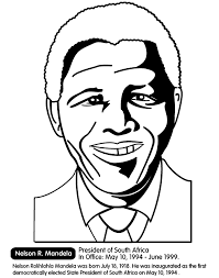 black history month nelson r mandela south africa coloring
