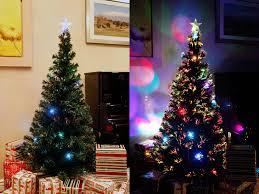 tree green ornaments pre lit multi
