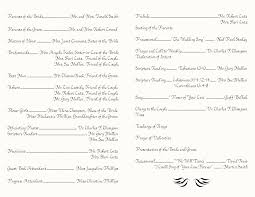 wedding ceremony programs wording best photos of copy of church programs sle wedding ceremony