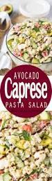 avocado caprese pasta salad i wash you dry